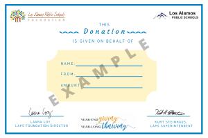 Example certificate